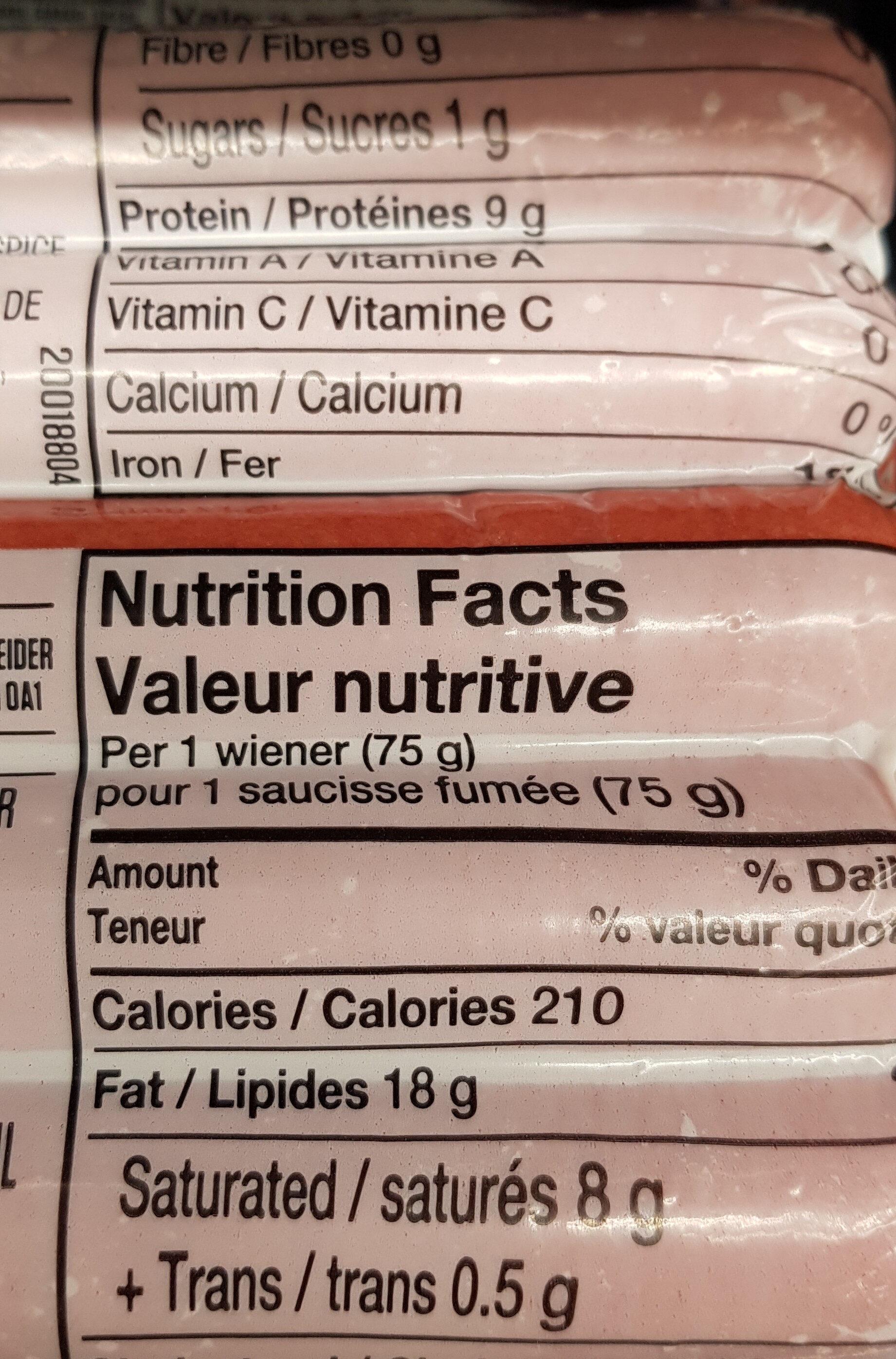juicy jumbos - Informations nutritionnelles - en