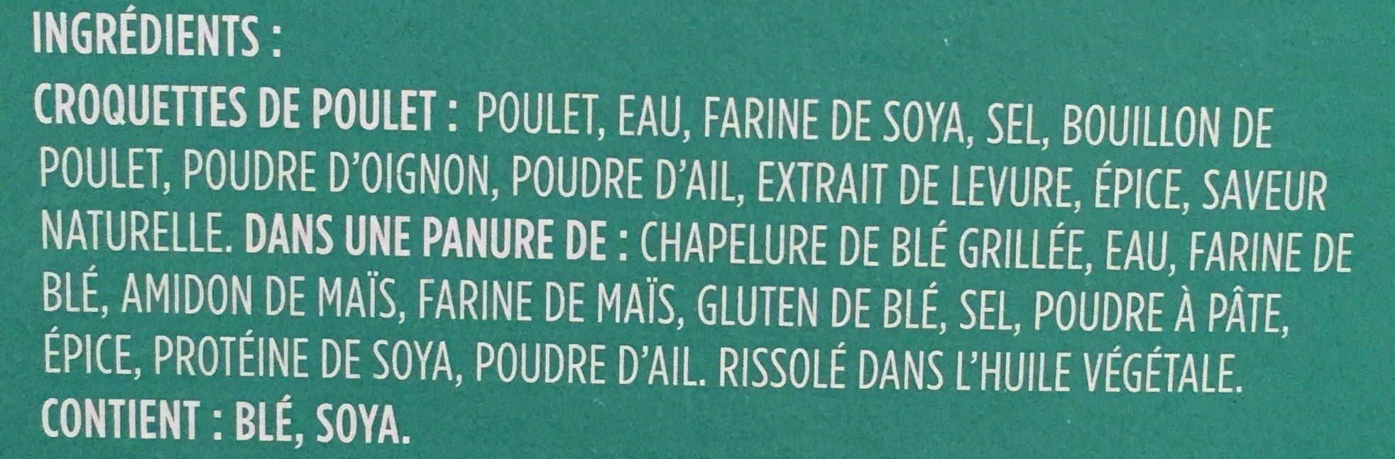 Croquette de poulet - Ingredients - fr