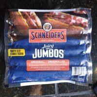Schneider's Juicy Jumbos Weiners - Product - fr