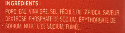 Deli express jambon forêt -noire fumé - Ingrédients - fr