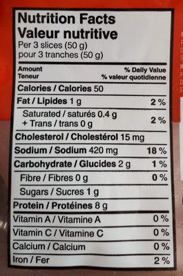 Deli express jambon forêt -noire fumé - Informations nutritionnelles - fr