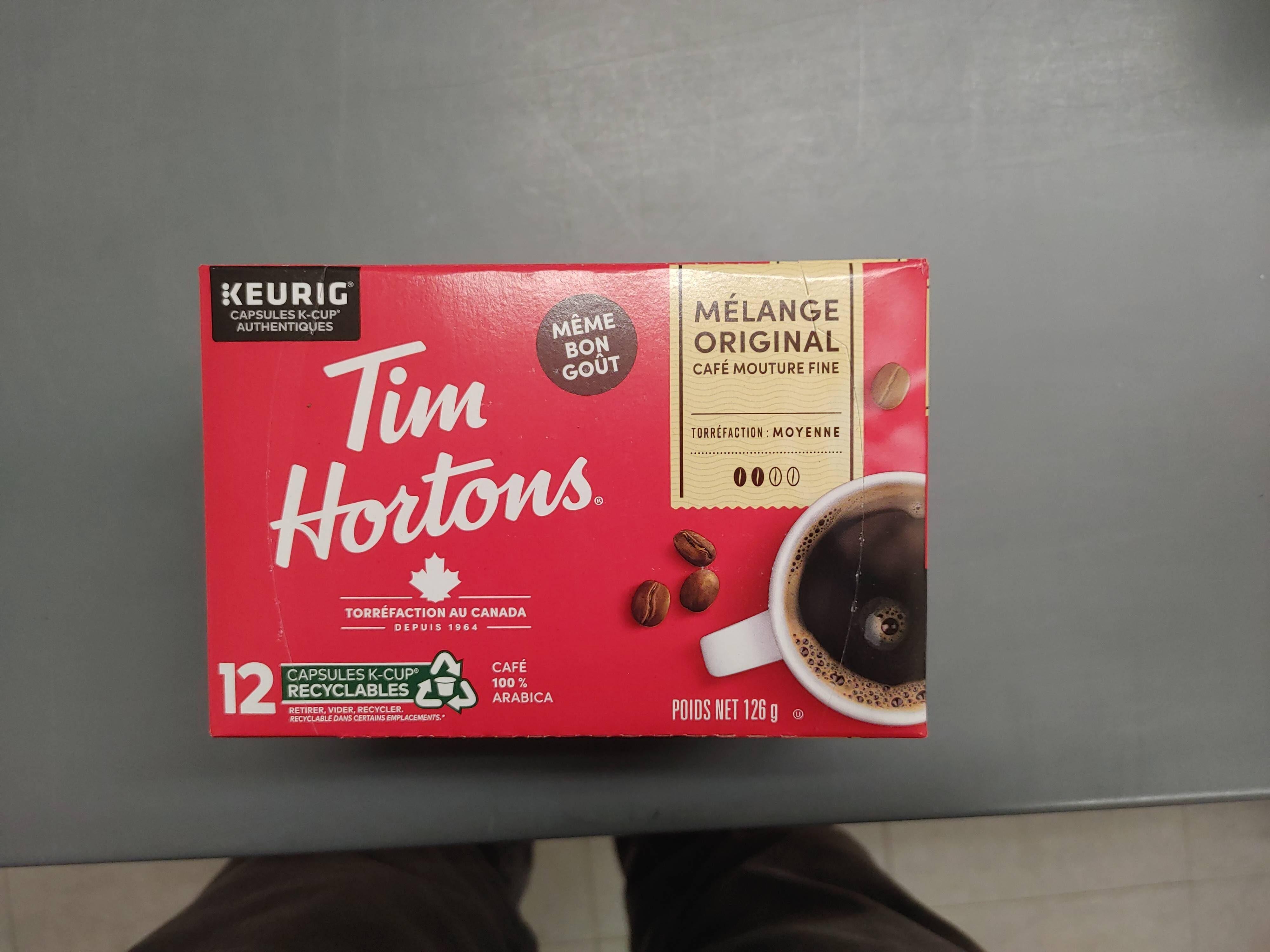 Tim Hortons Original K-Cups - Produit - en