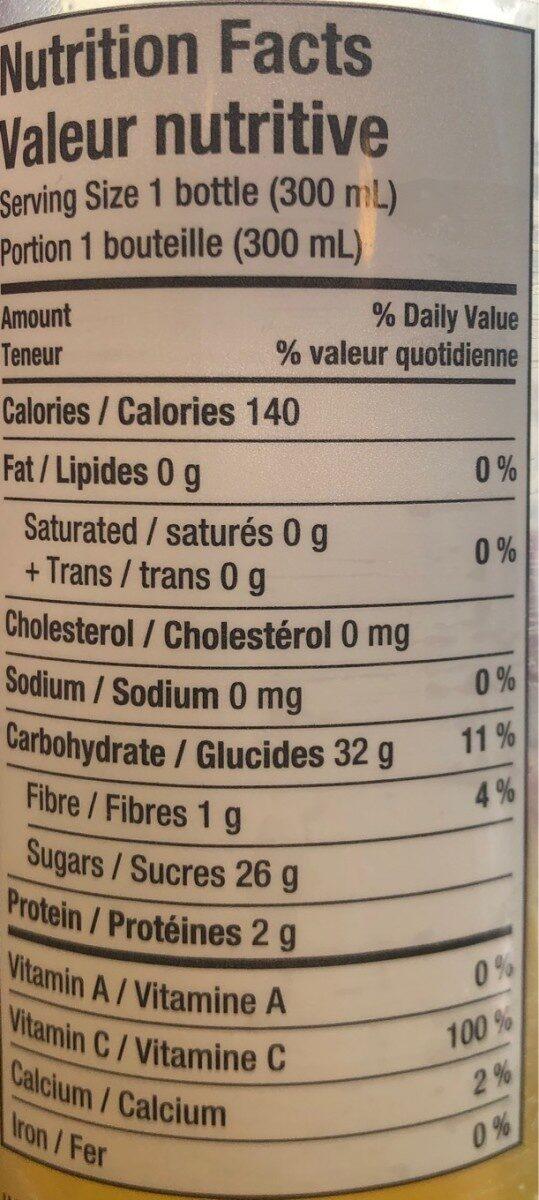 Jus d'Orange Pur - Nutrition facts - en
