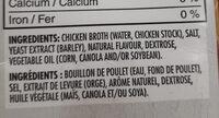 Chicken broth - Ingrédients - fr