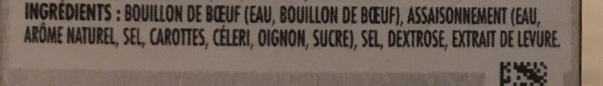 Bouillon de boeuf - Ingrédients