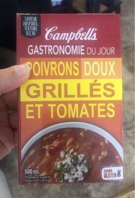 Soupe poivrons doux grillés et tomates - Produit - en
