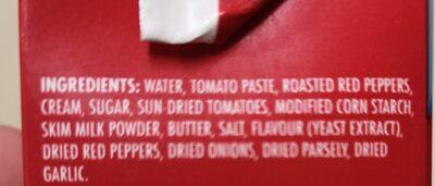 Soupe poivrons doux grillés et tomates - Ingrédients - en