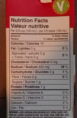 Mushroom broth - Informations nutritionnelles - fr