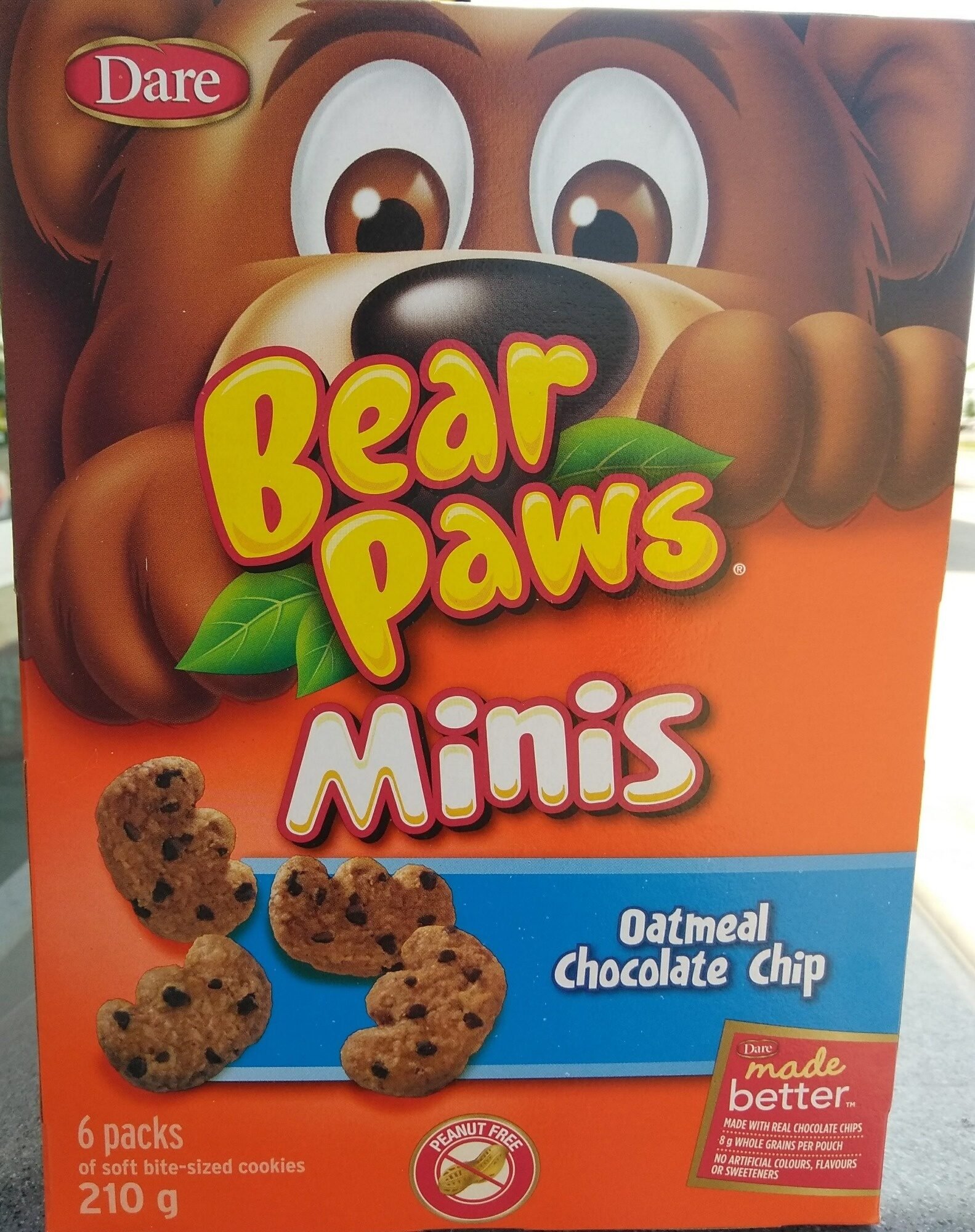 Bear Paws Minis Soft Bite-Sized Oatmeal Chocolate Chip Cookies - Product