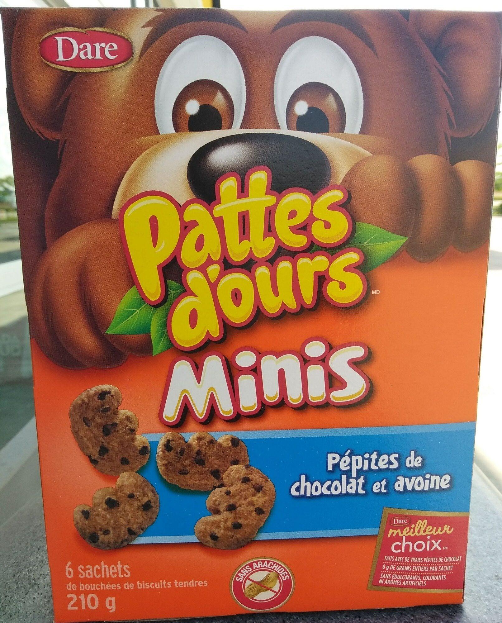 Bear Paws Minis Soft Bite-Sized Oatmeal Chocolate Chip Cookies - Produit - fr