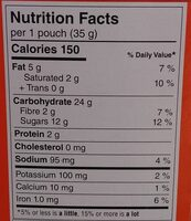 Bear Paws Minis Soft Bite-Sized Oatmeal Chocolate Chip Cookies - Nutrition facts - en