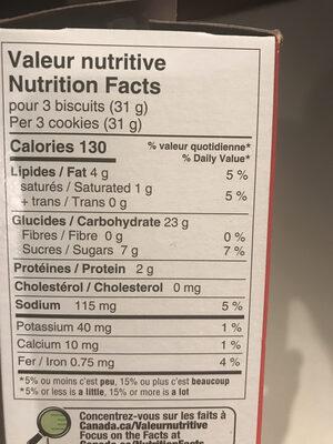 Goglu - Informations nutritionnelles - fr