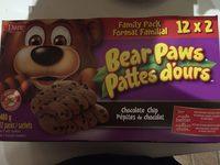 Bear Paws chocolate chip - Produit - fr
