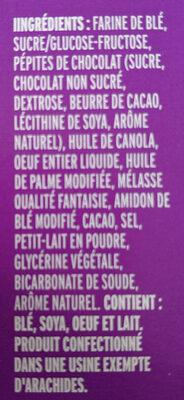 Bear Paws chocolate chip - Ingrédients - fr