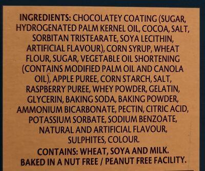 Viva puffs raspberry chocolatey covered marshmallow - Ingredients - en