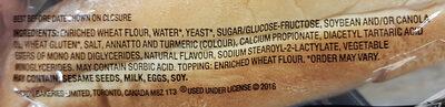 D'italiano Sausge Buns - Ingredients - en
