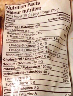 14 grains bagel - Nutrition facts - fr