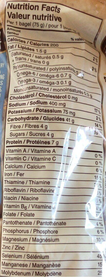 Bagel - Nutrition facts - en