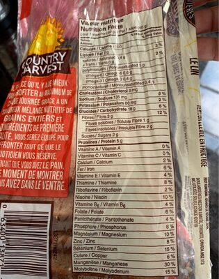 Country harvest - Nutrition facts - en