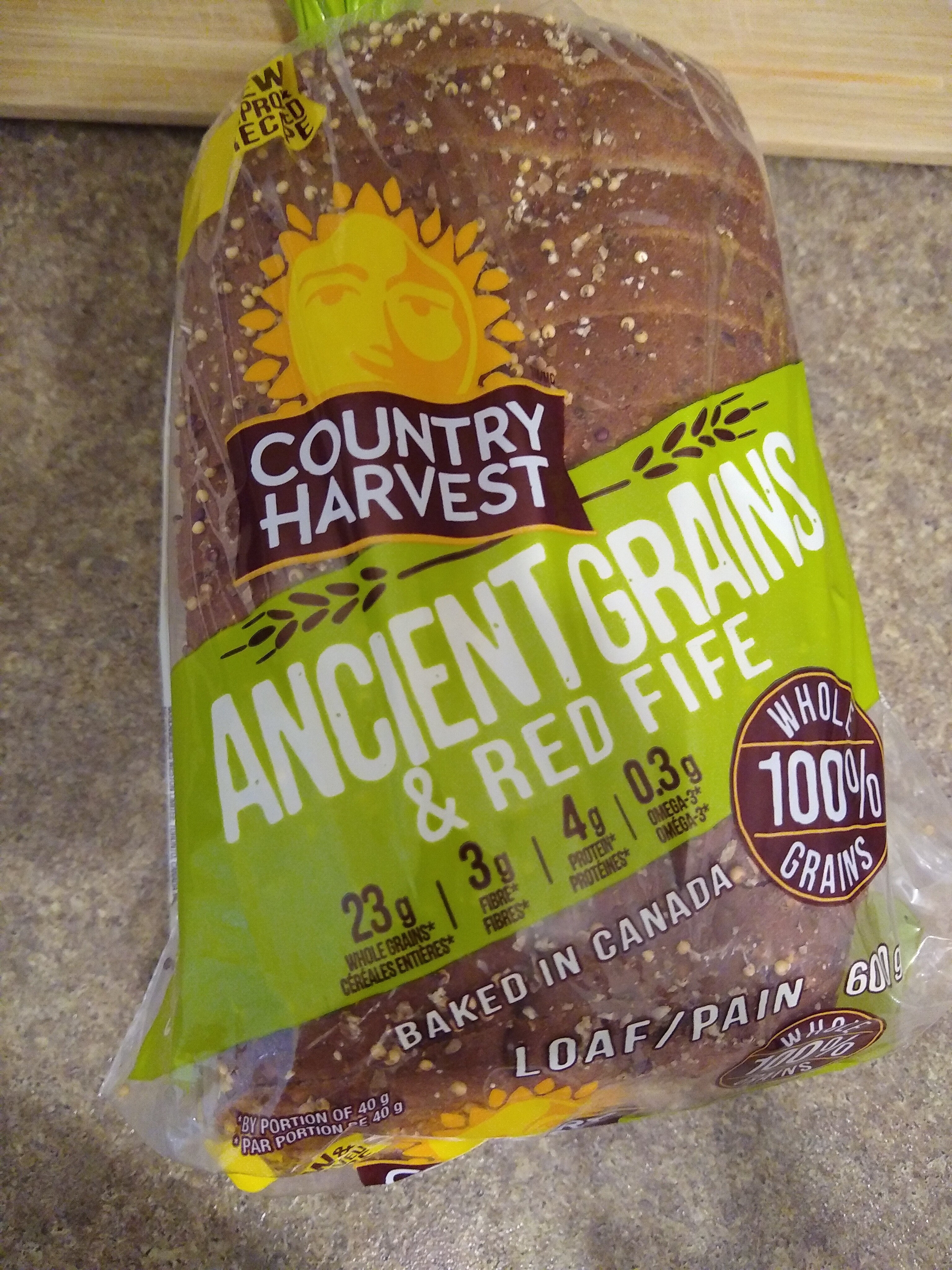country harvest ancient grains & Red Fife bread - Produit