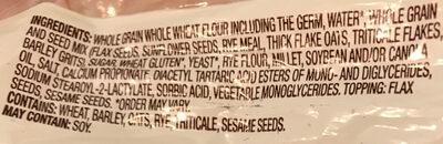 Graines et céréales : lin tournesol et seigle - Ingredients