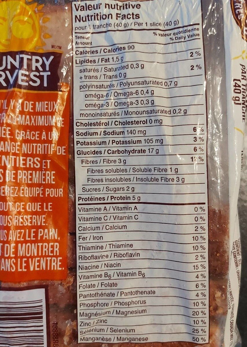 Son des prairies - Nutrition facts - en