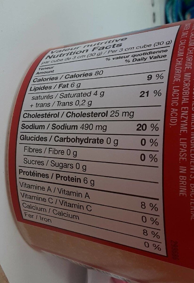 Feta traditionel - Informations nutritionnelles - fr
