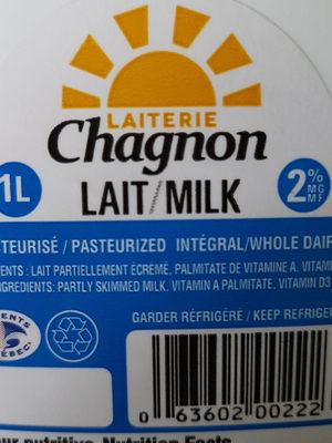 lait 2% - Ingrédients - fr
