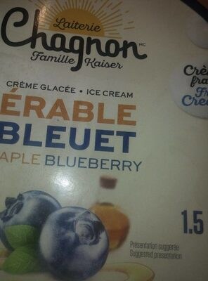 Crème glacée érable bleuet - Produit - fr