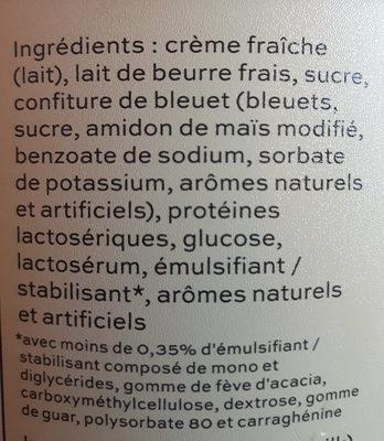 Crème glacée érable bleuet - Ingrédients - fr