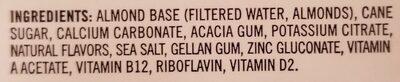 Boisson aux amandes - Ingrédients - fr