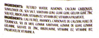 Fortified Almond Beverage - Ingredients - en