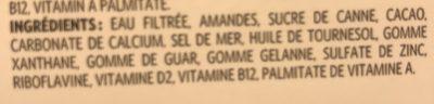 Boisson Aux Amandes (chocolat) - Ingrédients - fr