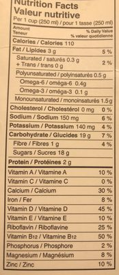 Boisson Aux Amandes (chocolat) - Informations nutritionnelles - fr