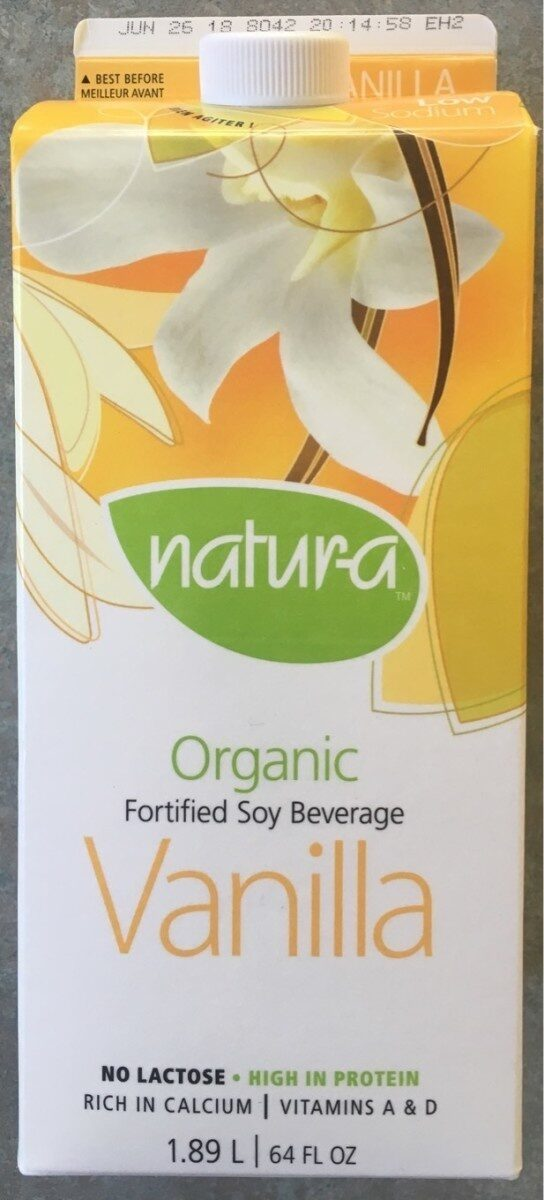Boisson De Soya Biologique (vanille) - Product - fr