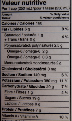 Natur-a Soya Chocolat - Nutrition facts - fr
