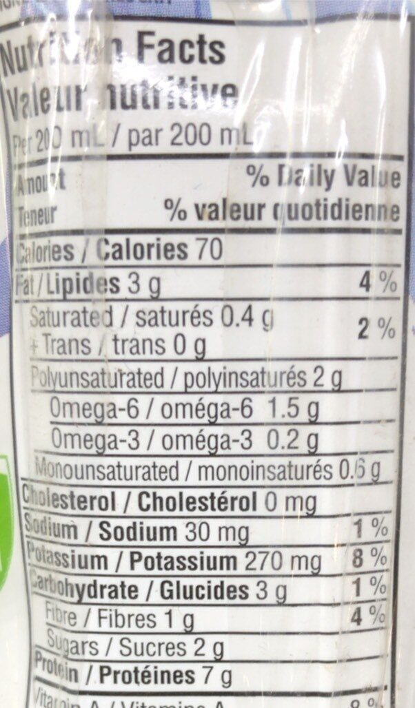 boisson de soya fortifiée - Informations nutritionnelles - fr