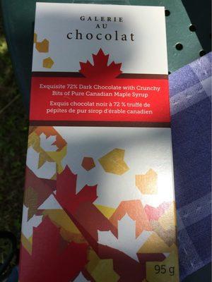 Chocolat noir 72% truffé de pépites de sirop d'érable - Produit - fr