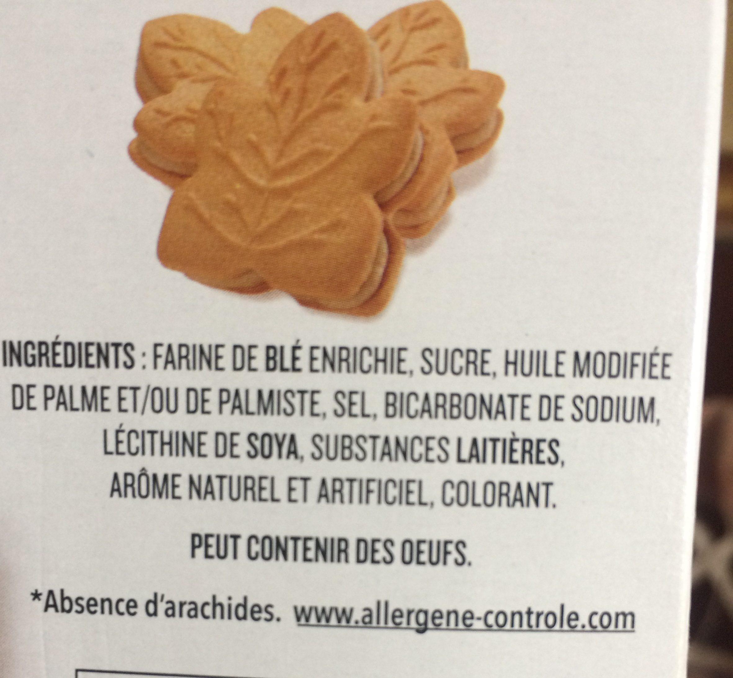 Biscuits Crème Feuille D'érable - Ingrediënten - fr