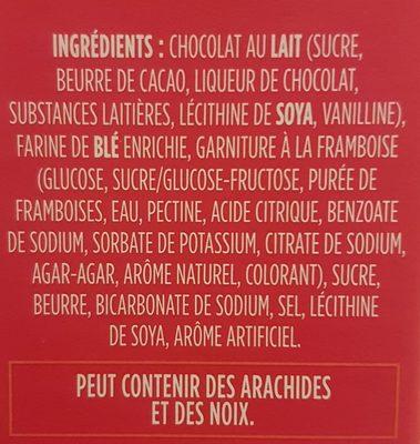 Biscuits au beurre truffés framboise - Ingrédients - fr