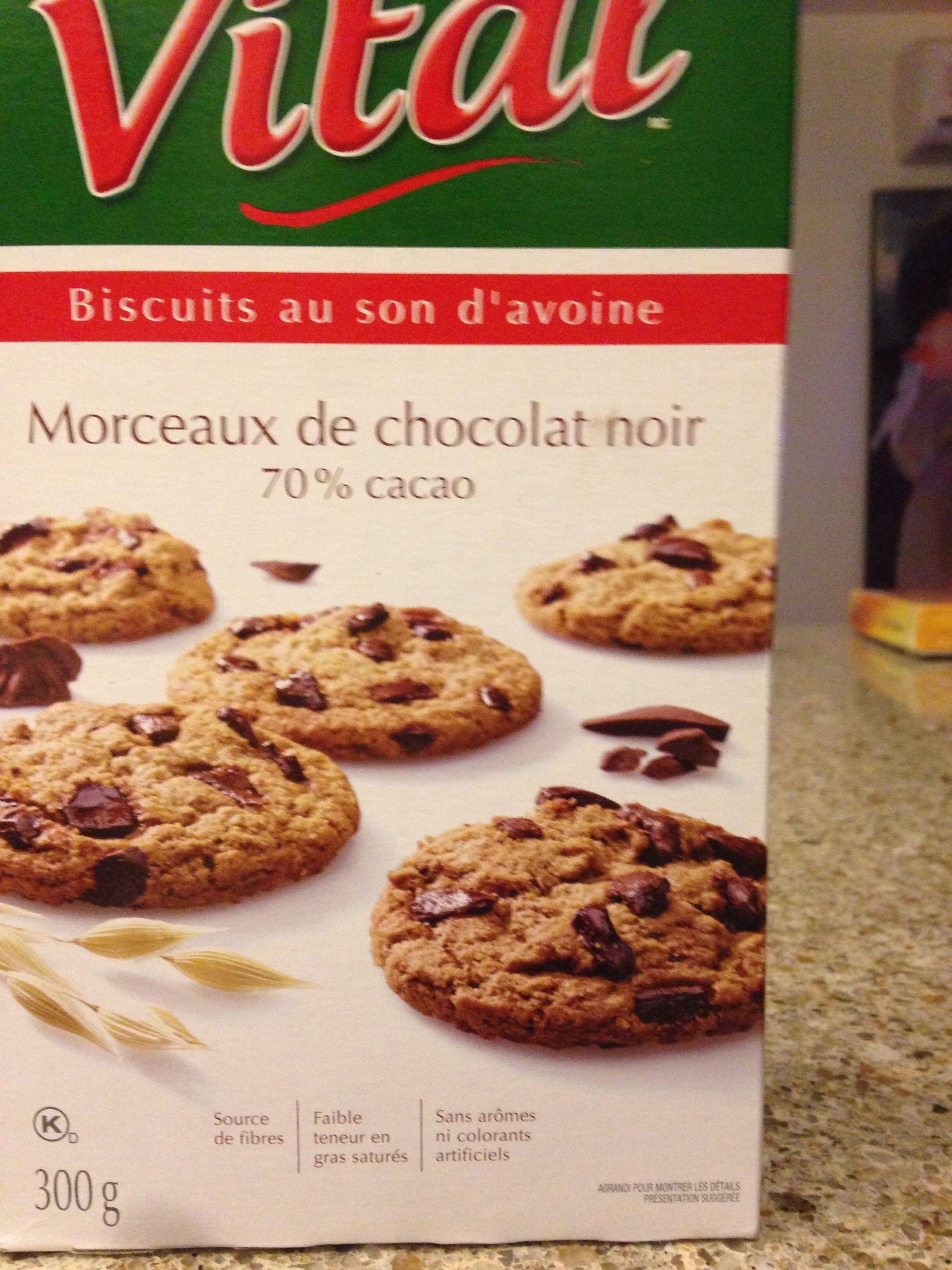 Biscuits au son d'avoine chocolat noir - Product