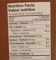 Biscuits au beurre chocolat au lait - Informations nutritionnelles - fr