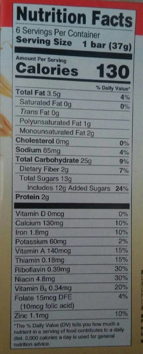 Fruit & Grain Strawberry - Nutrition facts - en