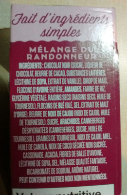 Vital mélange du randonneur - Ingredients - fr