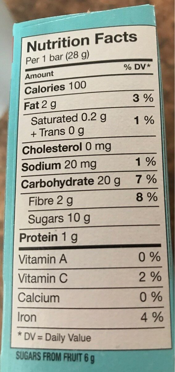 Go pure - Nutrition facts - fr