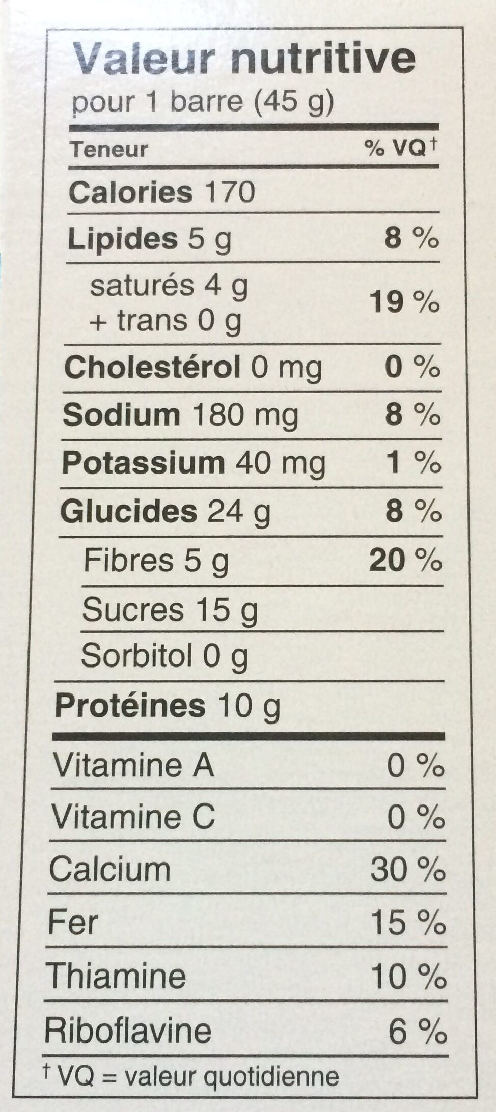 Special K protein - Informations nutritionnelles - fr