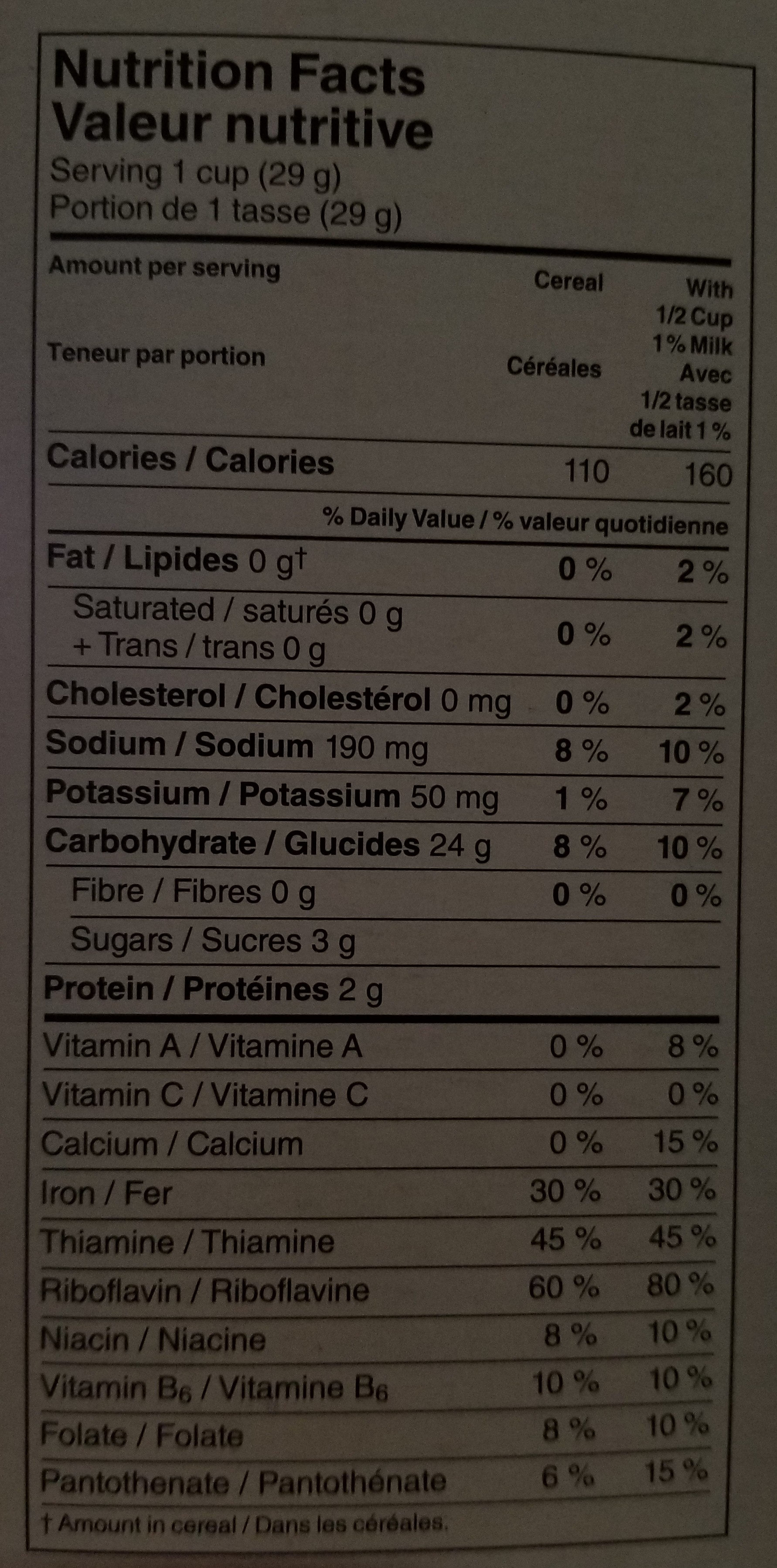 Corn Flakes Céréales - Nutrition facts - en