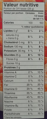 Céréale Frosted Flake Orig - Nutrition facts