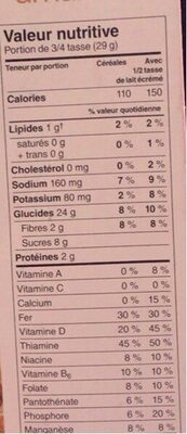 Vanilla Almond Cereal - Informations nutritionnelles - fr