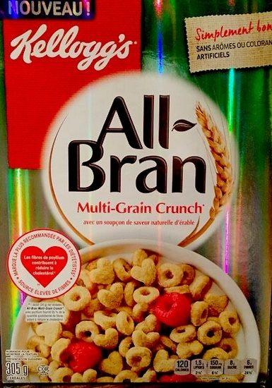 Kellogg's All-bran Multi-grain Crunch Cereal, 305G - Produit - fr